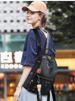 时尚潮流女双肩包大容量印花休闲出游旅行包PR9911