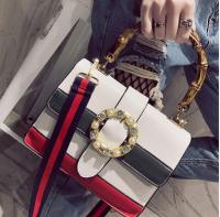 2017新款女式包包时尚个性拼色小方包单肩磁扣亮片包批发0118