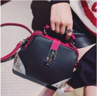 2017韩版时尚铆钉单肩包斜挎包手提包个性拼色小包JB1293
